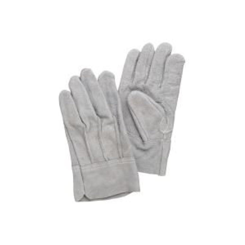 ヒゲクジラ通常資格( お徳用 100セット ) 熱田資材 革手袋床革手袋 背縫い NO.11 グレー