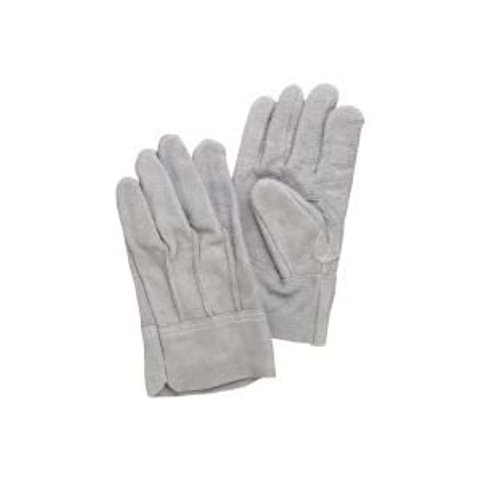( お徳用 100セット ) 熱田資材 革手袋床革手袋 背縫い NO.11 グレー