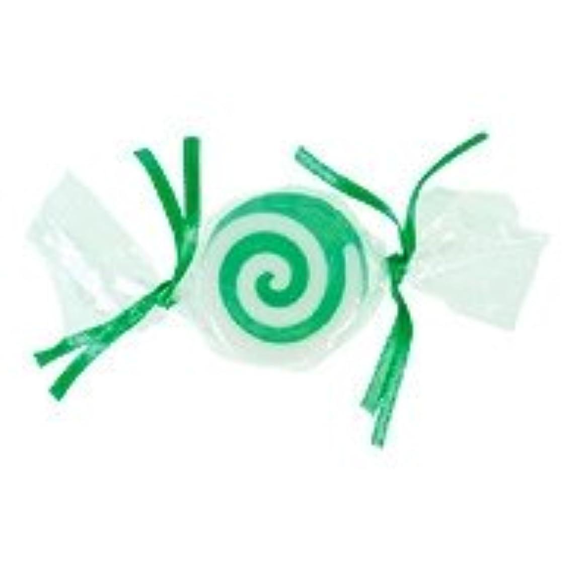 破滅的な甘いペデスタルベジタブルソープ キャンディ「グリーン」20個セット グリーンアップルの香り