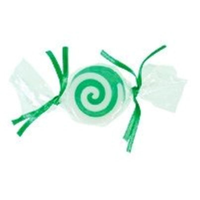 モッキンバード着陸社交的ベジタブルソープ キャンディ「グリーン」20個セット グリーンアップルの香り