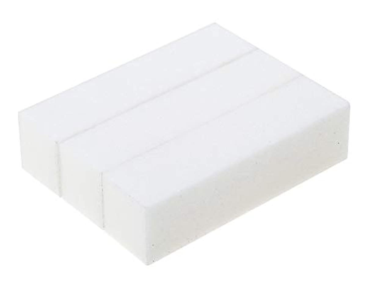 寛大さ甘美な保有者3スポンジ/サンディングブロックマニキュアペディキュアプロフェッショナル高品質ポンスホワイトストーンのセット