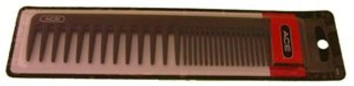 洞察力のあるもっともらしい常習的Ace Bi-function Comb * Coarse Teeth & Regular Teeth * Black [並行輸入品]