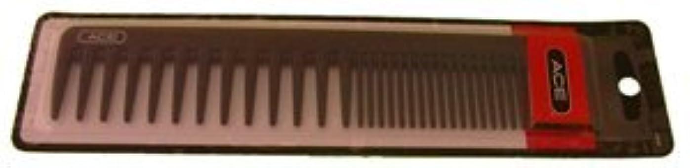 ムスタチオ発火する気づかないAce Bi-function Comb * Coarse Teeth & Regular Teeth * Black [並行輸入品]