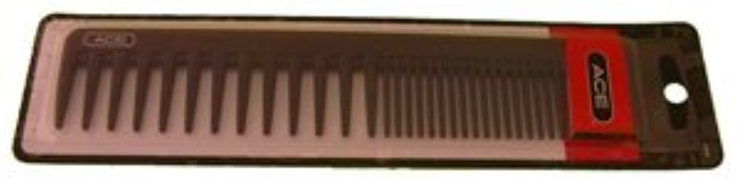 Ace Bi-function Comb * Coarse Teeth & Regular Teeth * Black [並行輸入品]