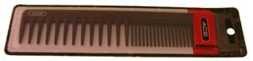 電卓突き出す避けられないAce Bi-function Comb * Coarse Teeth & Regular Teeth * Black [並行輸入品]