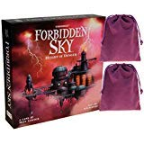 Forbidden Sky 協力ボードゲーム ボーナス紫のベルベット巾着収納ポーチ2個付き バンドルアイテム