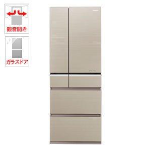 パナソニック 501L 6ドア冷蔵庫(マチュアゴールド)Panasonic エコナビ NR-F502XPV-N