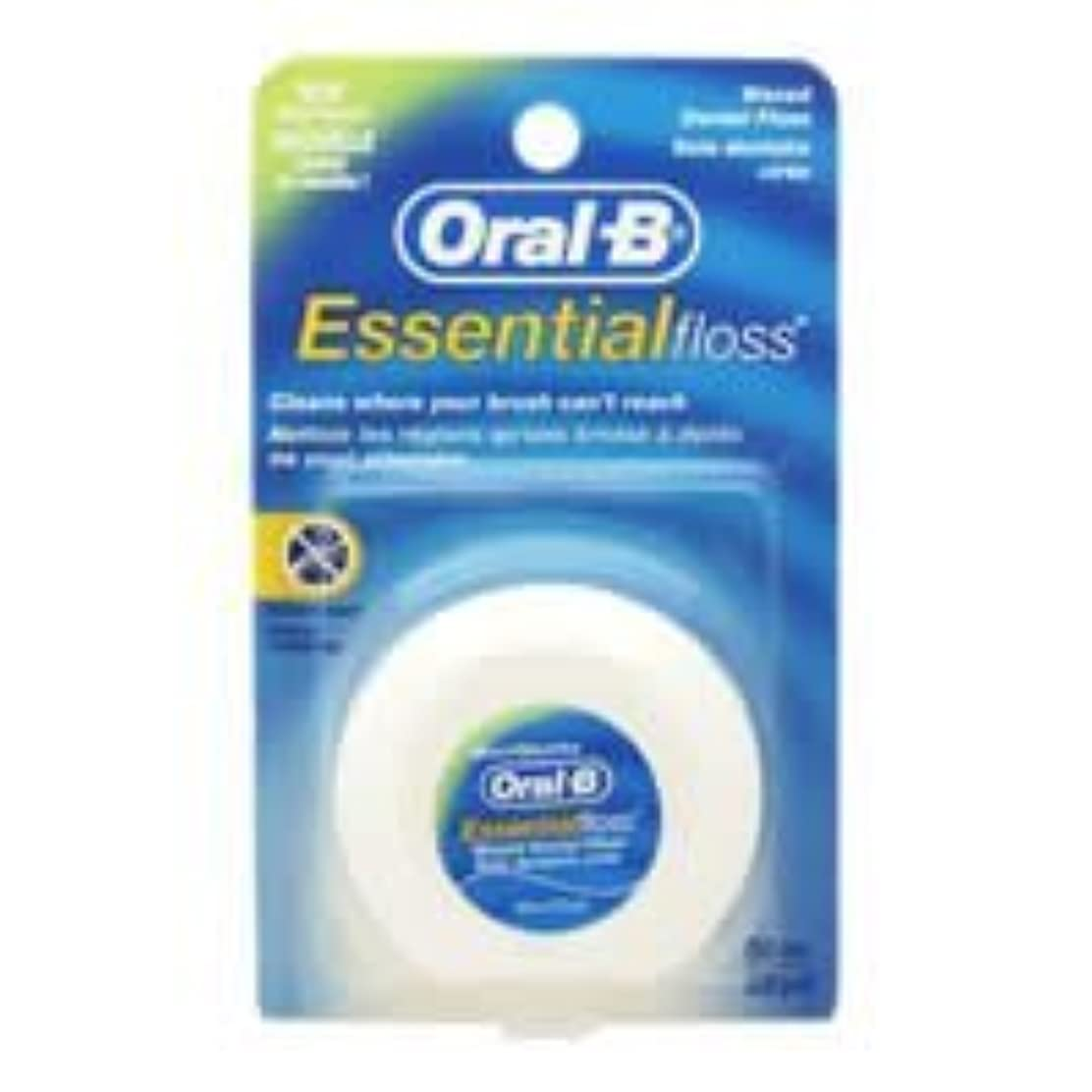 マーキング磨かれたフックOral-B Essential Waxed Dental Floss Mint by Oral-B