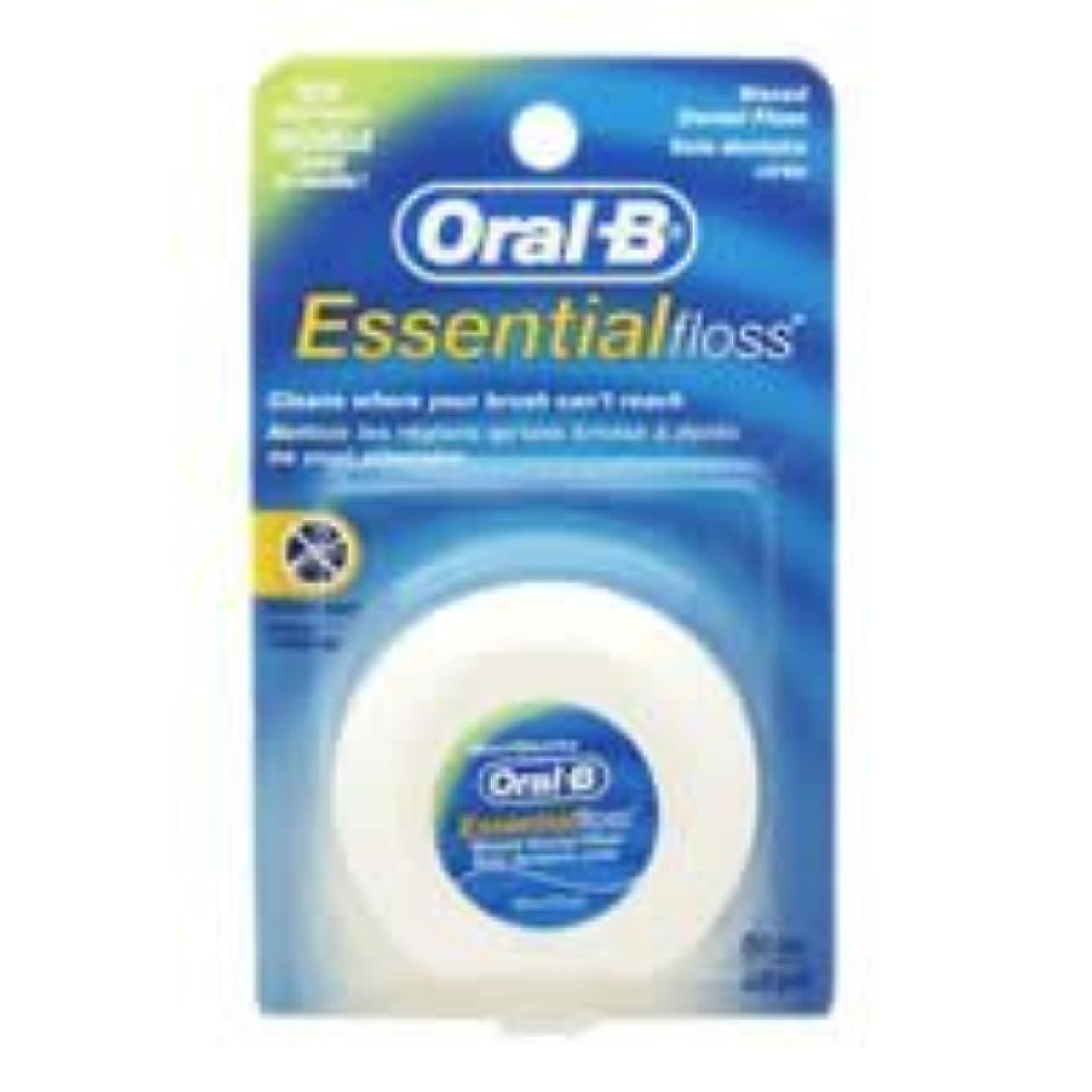 低い有望頬Oral-B Essential Waxed Dental Floss Mint by Oral-B