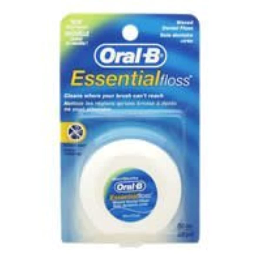 承認大学生アルファベット順Oral-B Essential Waxed Dental Floss Mint by Oral-B