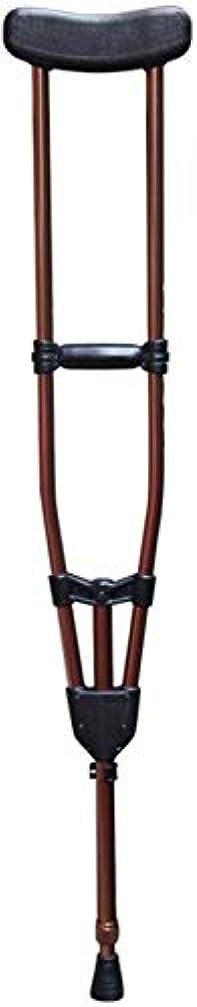 に同意する最大化するピグマリオン障害者用の松葉杖/杖は自由に曲げることができます2色調整範囲117-147cm(46.06-57.87インチ)(色:茶色、サイズ:シングル)