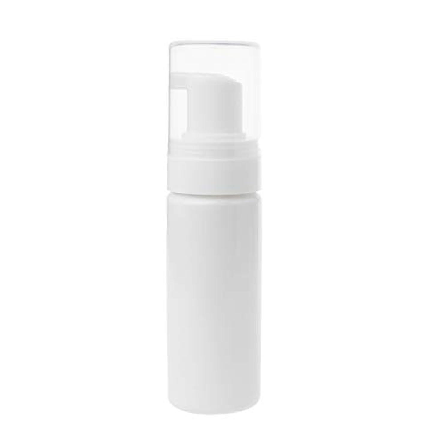 並外れてに対処するトランクライブラリTOOGOO 1個50ml キャップ付き発泡ボトル泡ポンプせっけんムース液体ディスペンサー泡ボトルプラスチックシャンプーローションボトル(ホワイト)