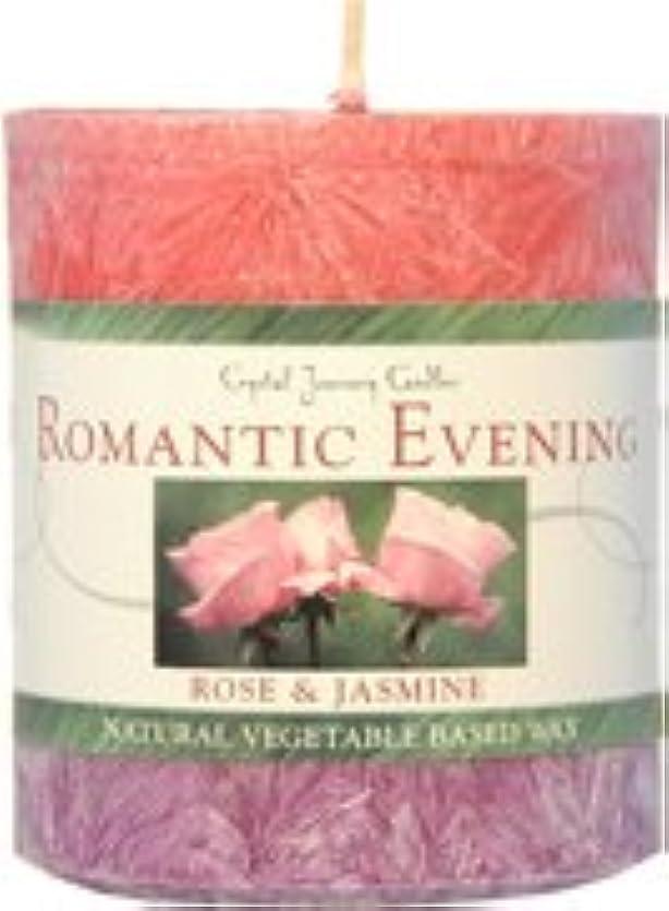 堂々たる冷ややかなきれいにフロスティ?クリスタル?キャンドル ロマンティックな夜(ローズ&ジャスミン)