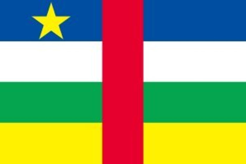 世界の国旗 中央アフリカ 国旗 [90×135cm 高級テトロン製]