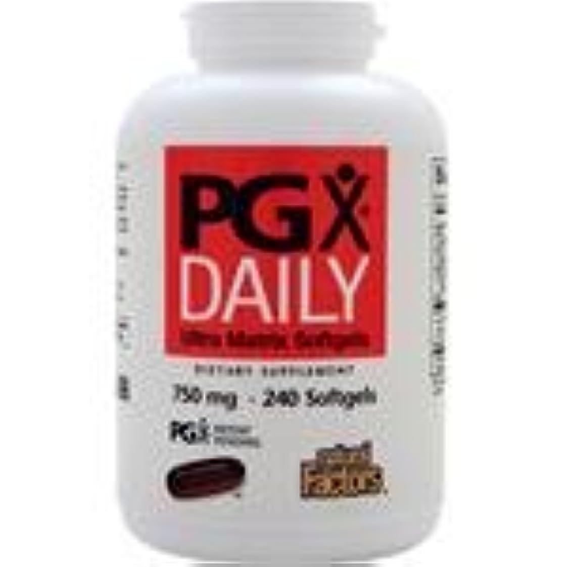 アクチュエータ優先権痴漢PGX Daily (750mg)  240 sgels   4個パック