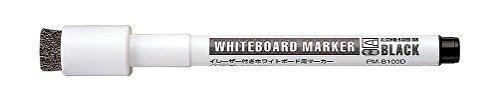 コクヨ イレーザー付きホワイトボード用マーカー極細黒10本