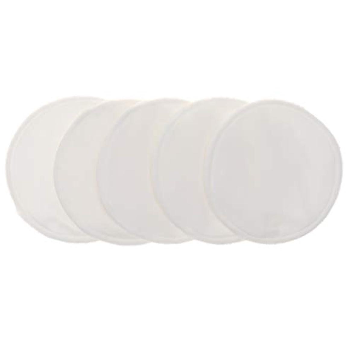 計算する不調和未接続Fenteer 12cm 胸パッド クレンジングシート 化粧水パッド 竹繊維 円形 洗える 再使用可能 5個 全5色 - 白