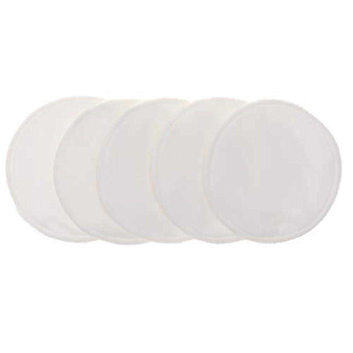 確立しますセールスキャンダラスFenteer 12cm 胸パッド クレンジングシート 化粧水パッド 竹繊維 円形 洗える 再使用可能 5個 全5色 - 白