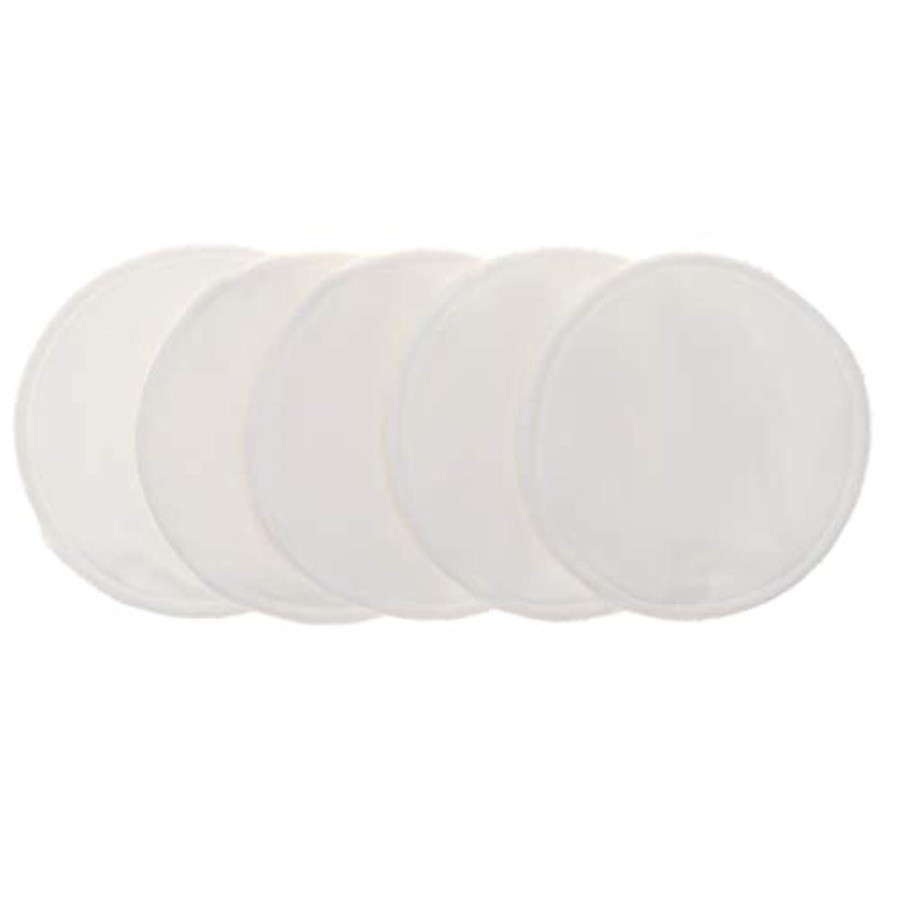 デコレーションクール追加12cm 胸パッド クレンジングシート 化粧水パッド 竹繊維 円形 洗える 再使用可能 5個 全5色 - 白