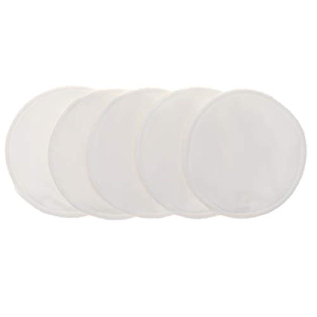 上に築きます語心臓12cm 胸パッド クレンジングシート 化粧水パッド 竹繊維 円形 洗える 再使用可能 5個 全5色 - 白