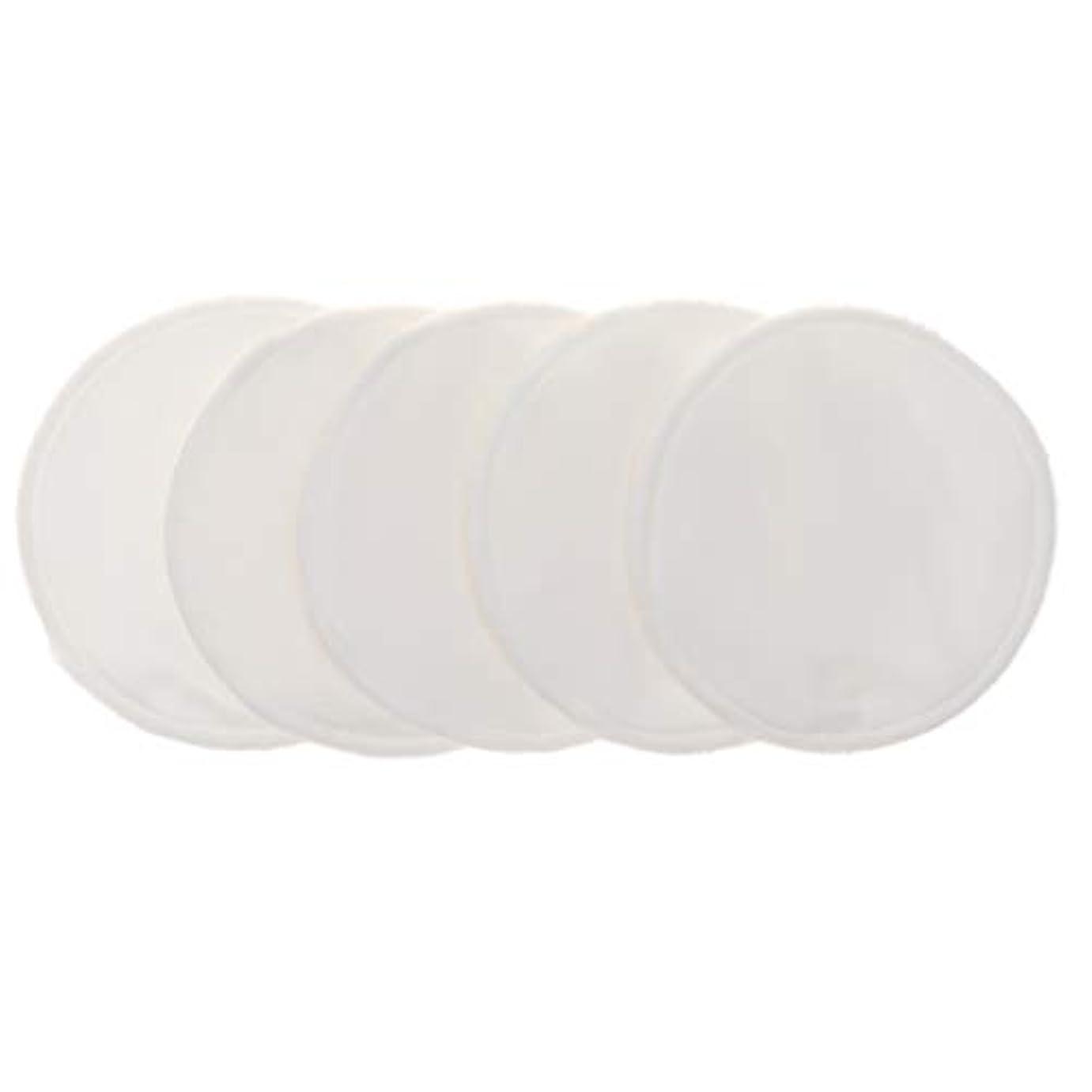 しおれたオートメーションマネージャー12cm 胸パッド クレンジングシート 化粧水パッド 竹繊維 円形 洗える 再使用可能 5個 全5色 - 白