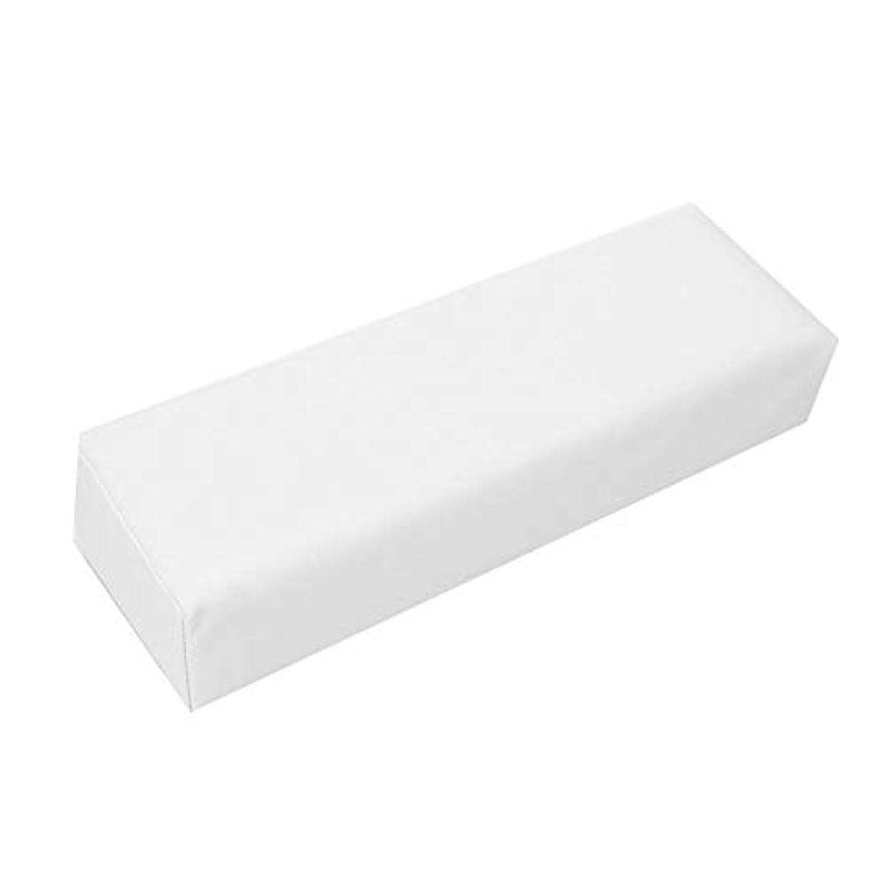 グレーましい起きるochunアームレスト ネイル用 ハンドクッション 手をサポート 高弾性な充填物 清潔容易 美容院?美容室?ネイルサロン?理容室に適用 29*9.5*6.5 cm(ホワイト)