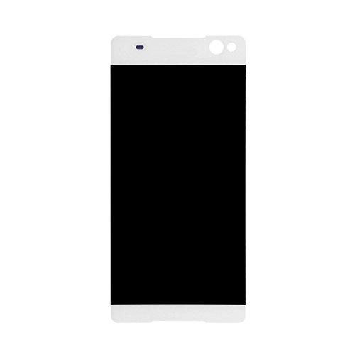 部品交換用パーツ ソニーXperia C5 Ultra / E5506 / E5533 / E5563 / E5553(黒)のLCDスクリーンとデジタイザーのフルアセンブリ (色 : 白)