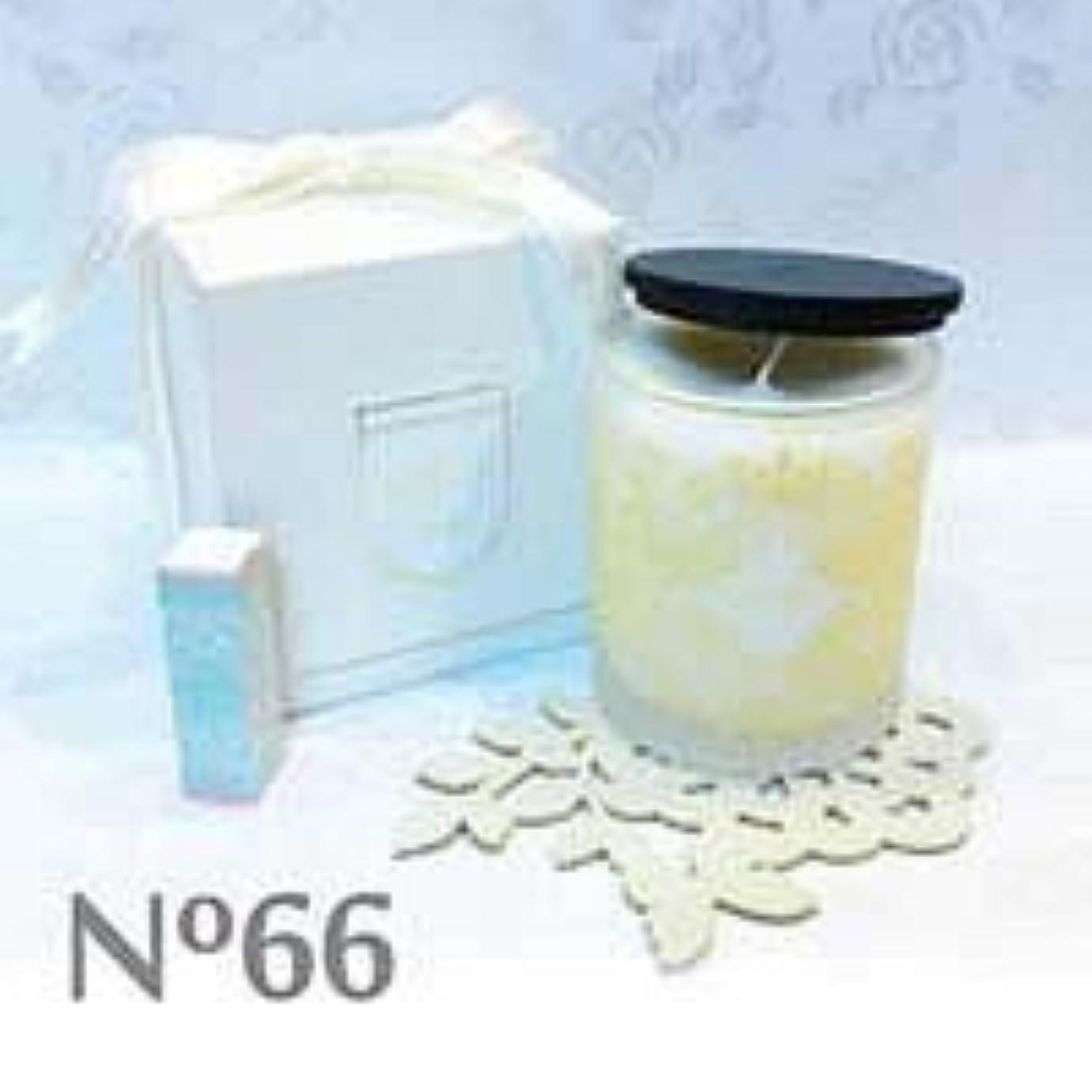 ホールド終了するアジア人アロマキャンドル parfum No.66