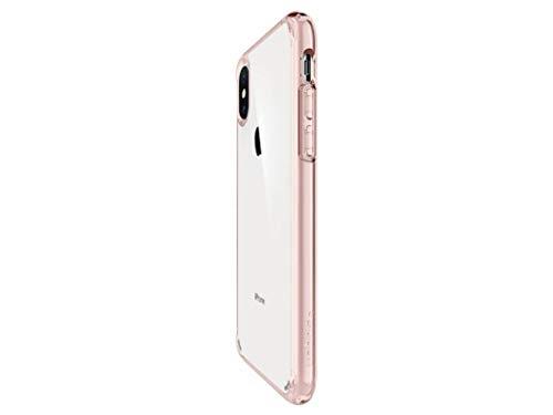 『【Spigen】 スマホケース iPhone XS Max ケース 6.5インチ 対応 全面クリア 耐衝撃 米軍MIL規格取得 ウルトラ・ハイブリッド 065CS25129 (ローズ・クリスタル)』の4枚目の画像