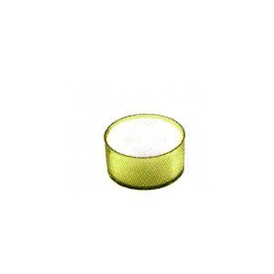 透明に軽ベッドを作るカメヤマキャンドル カラークリアカップ ティーライト グリーン 24個入