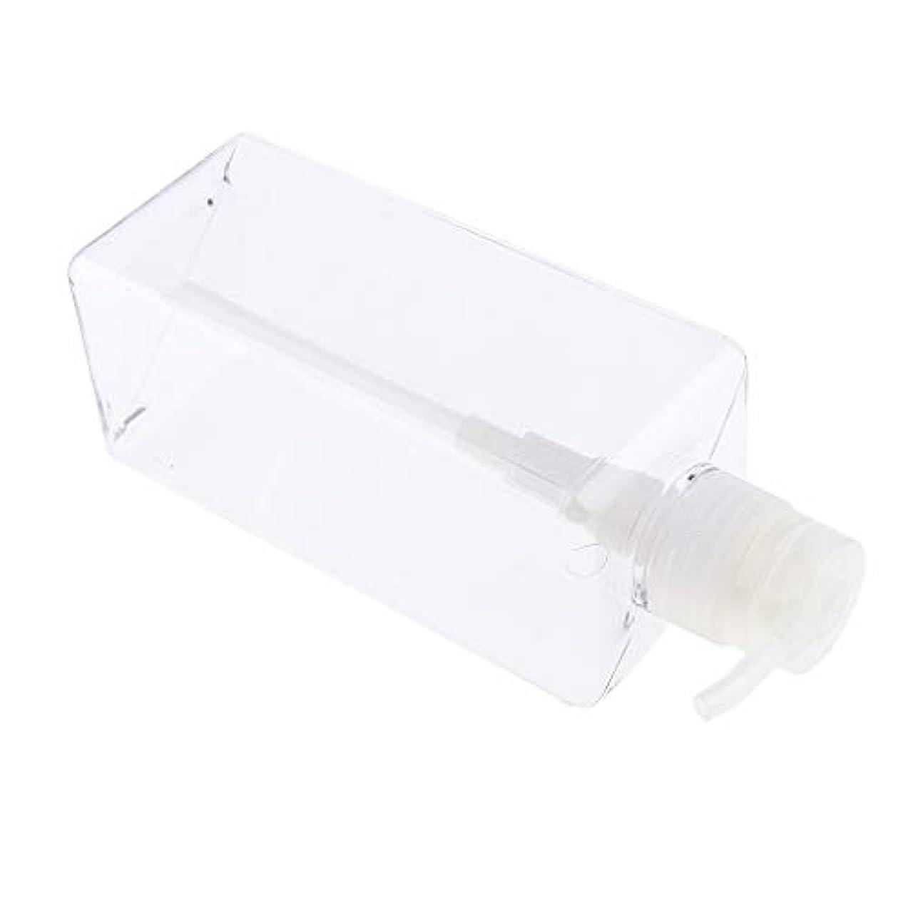 促すおっと発生ソープディスペンサー ローションボトル シャンプーコンテナ 650ml 高品質 プラスチック 4色選べ - クリア