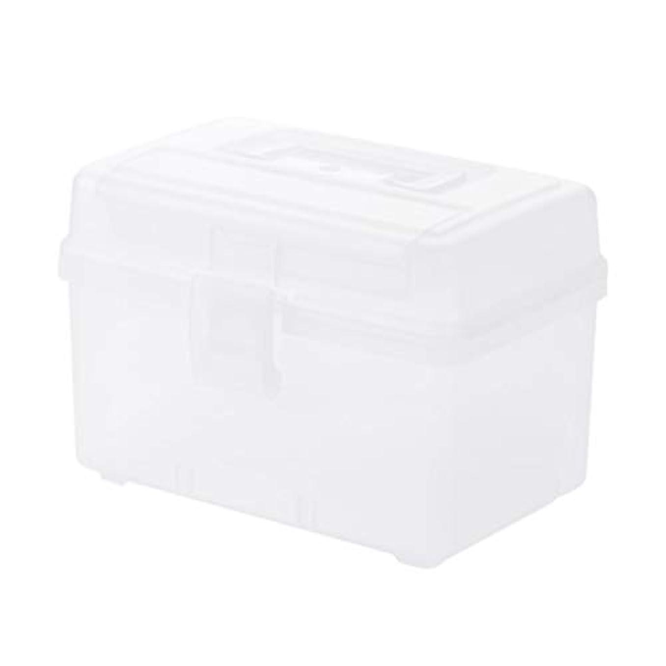 ピルボックスPP 25.7 * 16.3 * 18 cm家庭用薬ボックス薬収納ボックス (色 : トランスペアレント)