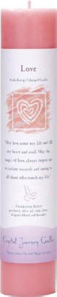 計算する横にインポートCrystal Journey Reiki Charged Herbal Magic Pillar Candle - Love - Made with Aromatherapy Essential Oils Olive...