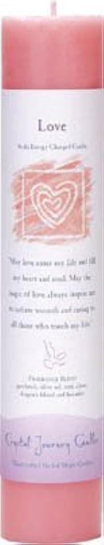風が強い口径夜間Crystal Journey Reiki Charged Herbal Magic Pillar Candle - Love - Made with Aromatherapy Essential Oils Olive...