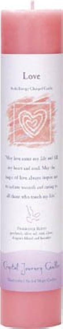発掘抜本的なセミナーCrystal Journey Reiki Charged Herbal Magic Pillar Candle - Love - Made with Aromatherapy Essential Oils Olive...
