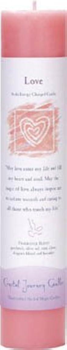 ギャラントリーバルコニー繁栄Crystal Journey Reiki Charged Herbal Magic Pillar Candle - Love - Made with Aromatherapy Essential Oils Olive...