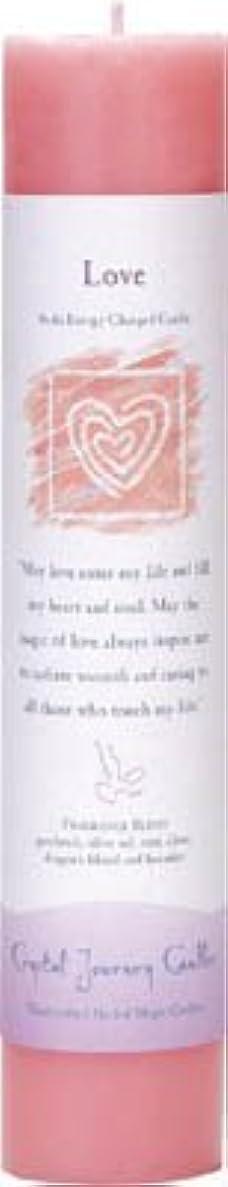 インサート一致南アメリカCrystal Journey Reiki Charged Herbal Magic Pillar Candle - Love - Made with Aromatherapy Essential Oils Olive...