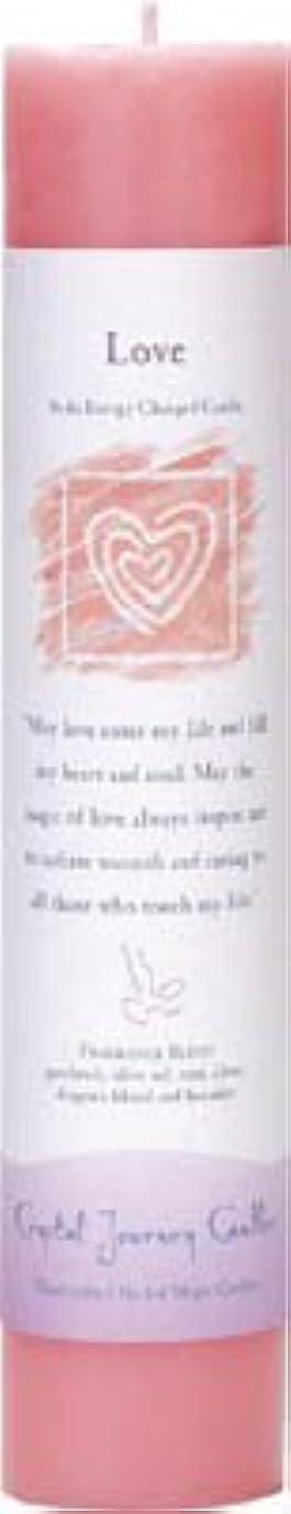 トランスミッションモンキーコンバーチブルCrystal Journey Reiki Charged Herbal Magic Pillar Candle - Love - Made with Aromatherapy Essential Oils Olive...