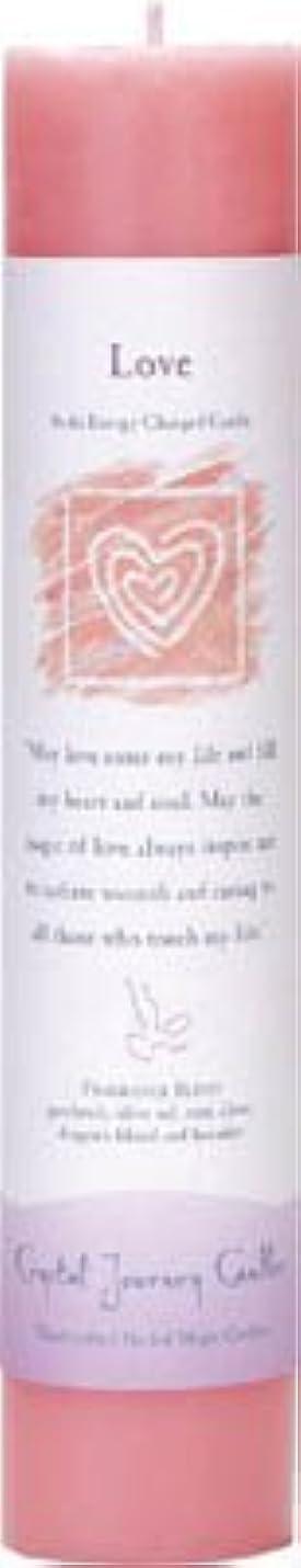 予約保全暗記するCrystal Journey Reiki Charged Herbal Magic Pillar Candle - Love - Made with Aromatherapy Essential Oils Olive...