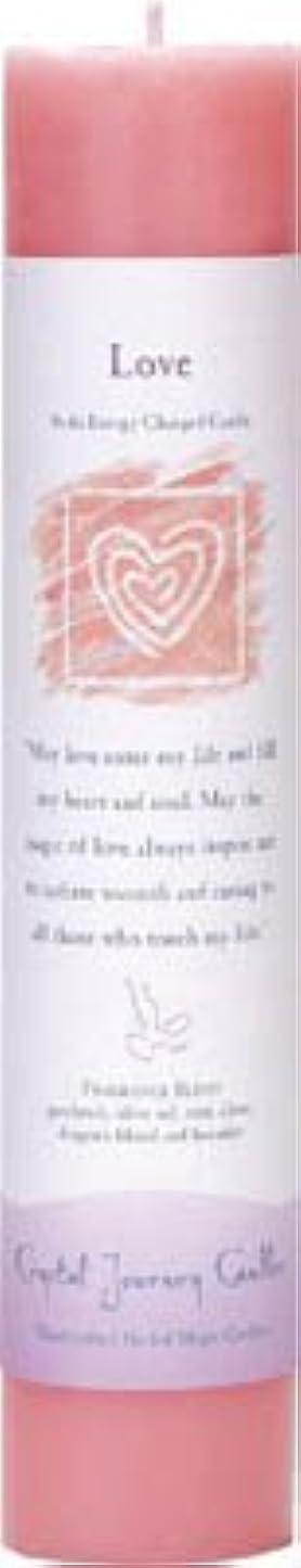 二年生放散する時期尚早Crystal Journey Reiki Charged Herbal Magic Pillar Candle - Love - Made with Aromatherapy Essential Oils Olive...