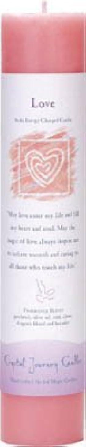 メッシュ不定専門化するCrystal Journey Reiki Charged Herbal Magic Pillar Candle - Love - Made with Aromatherapy Essential Oils Olive...