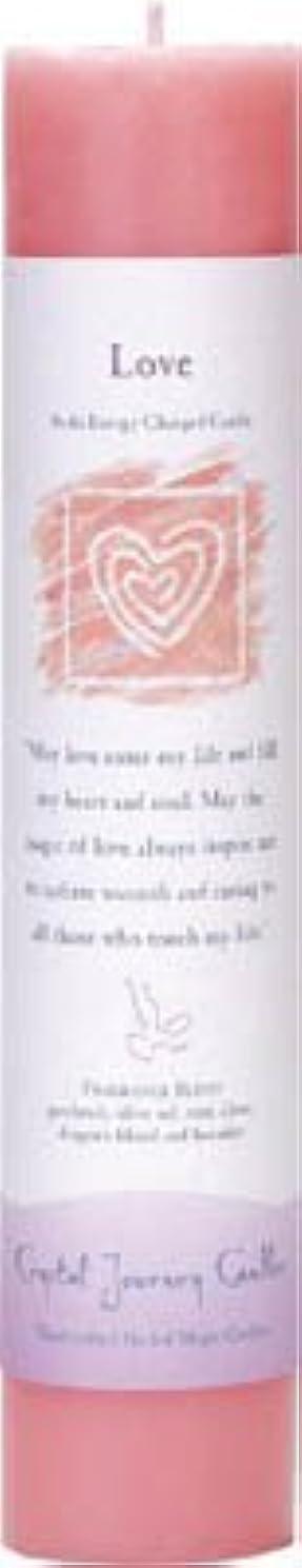 興味生態学滑り台Crystal Journey Reiki Charged Herbal Magic Pillar Candle - Love - Made with Aromatherapy Essential Oils Olive...