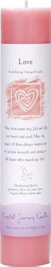 レオナルドダ我慢する早めるCrystal Journey Reiki Charged Herbal Magic Pillar Candle - Love - Made with Aromatherapy Essential Oils Olive...