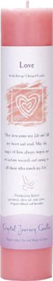 北東側ペンスCrystal Journey Reiki Charged Herbal Magic Pillar Candle - Love - Made with Aromatherapy Essential Oils Olive...