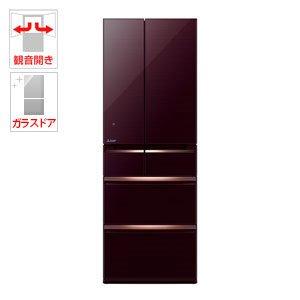 三菱 470L 6ドア冷蔵庫(クリスタルブラウン)MITSUBISHI 置けるスマート大容量 MR-WX47A-BR
