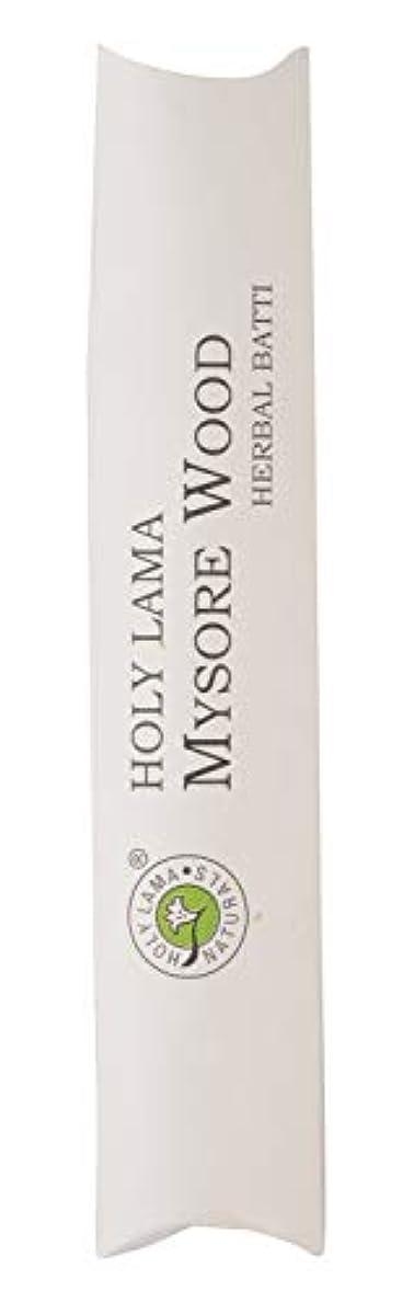 連続的ドロー劇作家Holy Lama Naturals Mysorewood Agarbatti (19.5 cm, Black, 40 gm)