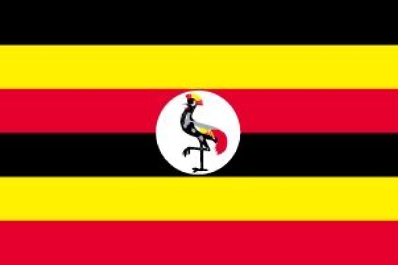 世界の国旗 ウガンダ 国旗 [100×150cm 高級テトロン製]