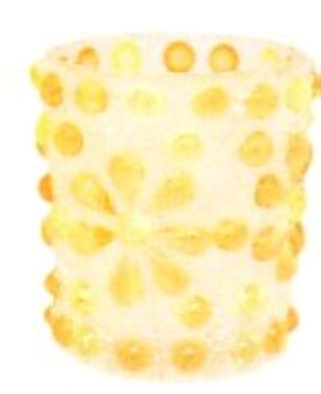 恵みアクセシブル固めるつぶつぶフラワーキャンドルホルダー オレンジ