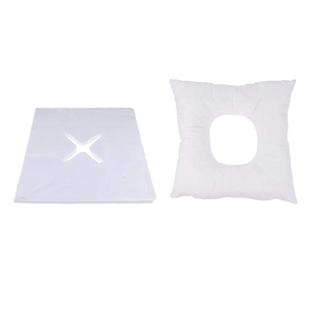 液化する不毛の濃度Fenteer マッサージ枕 顔枕 フェイスマット フェイスピロー 200個使い捨てカバー付 マッサージテーブル用 快適