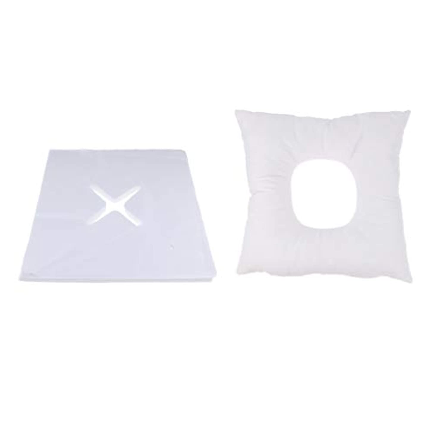 手入れ領収書プランターFenteer マッサージ枕 顔枕 フェイスマット フェイスピロー 200個使い捨てカバー付 マッサージテーブル用 快適